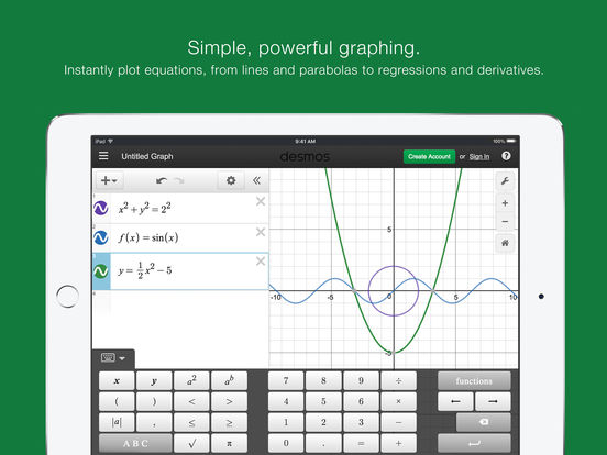 Desmos Graphing Calculator Screenshot