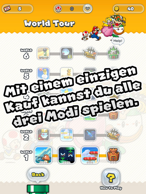 Super Mario Run iOS Screenshots