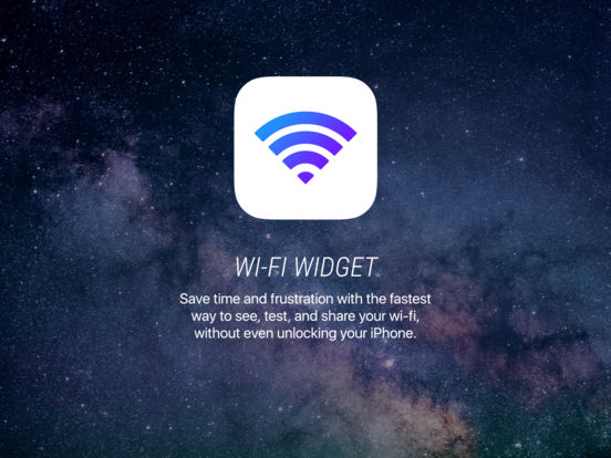 Wifi Widget - See, Test, and Share Wi-Fi Screenshot