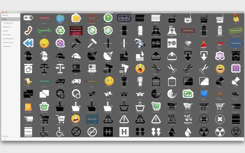 2016年1月16日Macアプリセール クリップアートコレクションアプリ「Clipart for iWork and MS Office」が値下げ!