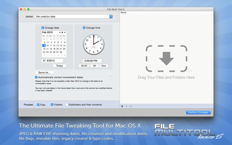 2015年8月21日Macアプリセール ファイル作成日時調整アプリ「File Multi Tool 5」が値下げ!