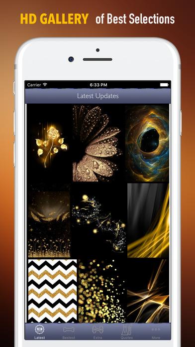 Screenshot for 黒と金の壁紙HD-引用とアート in Japan App Store