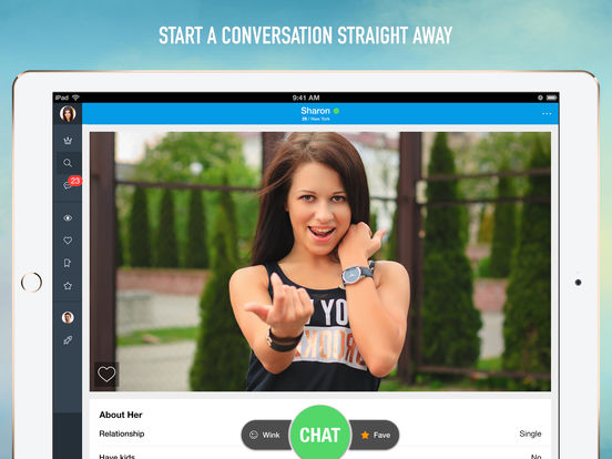Dating chat conversation