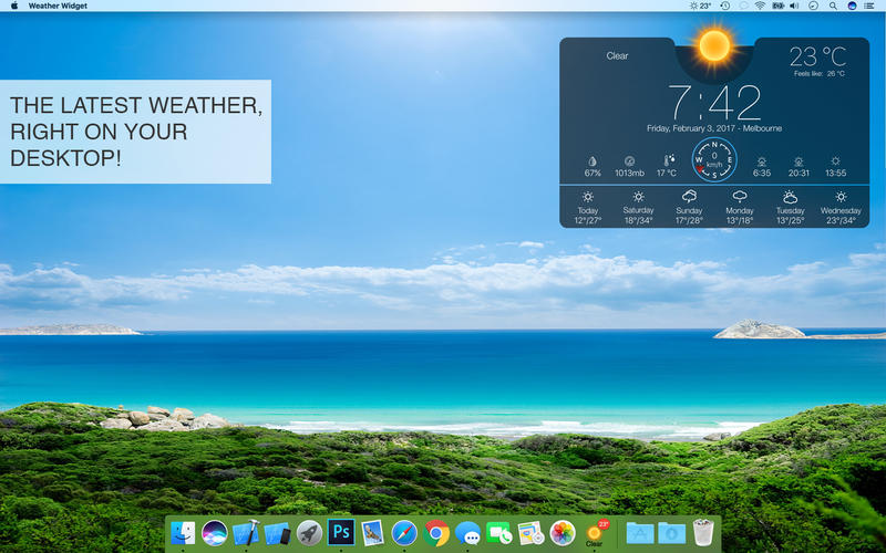 2017年4月14日Macアプリセール 気象情報ライブ・ドックアプリ「天気ウィジェット」が値下げ!