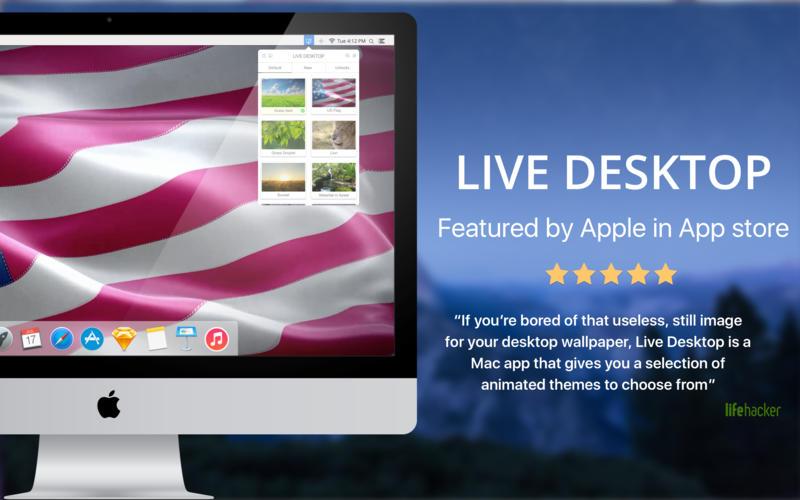 2016年8月18日Macアプリセール ライブ壁紙・テーマ集アプリ「Live Desktop」が値下げ!
