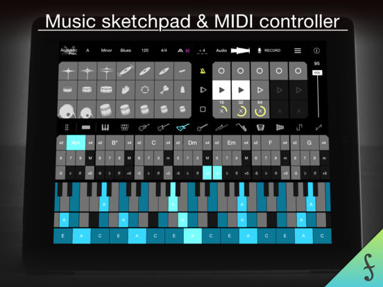 Firo - Music Maker, Instrument, Drums, Chords, Looper, and MIDI Controllerのおすすめ画像1