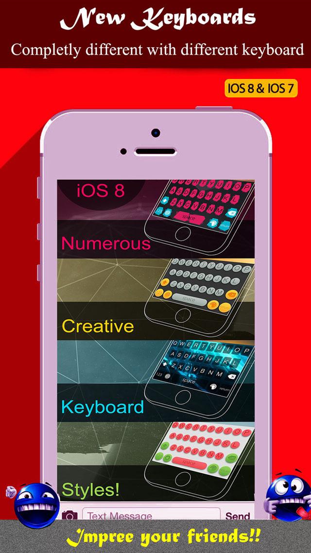 2016年2月4日iPhone/iPadアプリセール カスタム・キーボードアプリ「Color Keyboards」が無料!