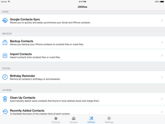 ZXContacts: Smart Contacts & Groups Manager Screenshots