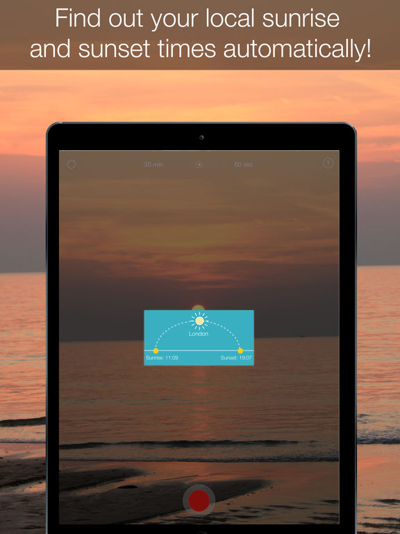 InstaSun — shoot time-lapse videos of sunsets! Screenshots