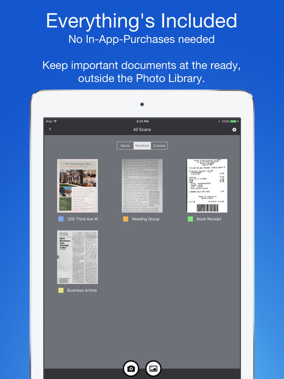 Smart PDF Scanner: Scan Documents and Receipts Screenshots