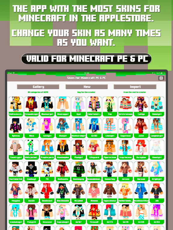 Skins For Minecraft PE PC Free Skins IPA Cracked For IOS Free - Skins para minecraft pe para download