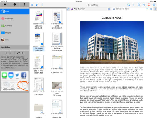 Save2PDF Screenshots
