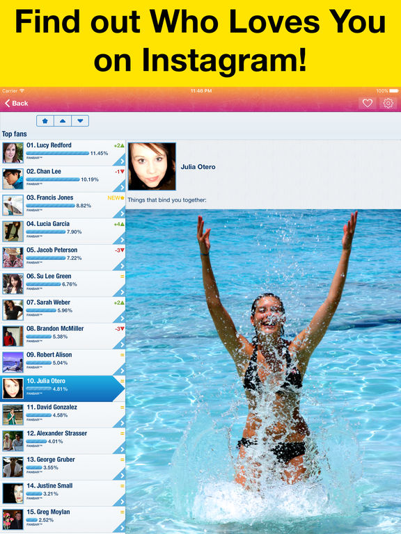 MyTopFans Pro for Instagram - Track followers Screenshots