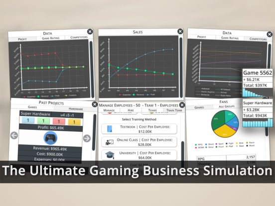 Game Studio Tycoon 3 – Gaming Business Simulation Screenshots