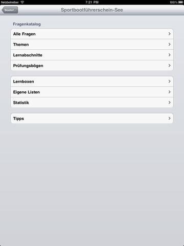Sportbootführerschein See iPad Screenshot 3