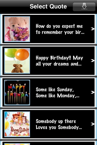 Birthday eCards free app screenshot 1