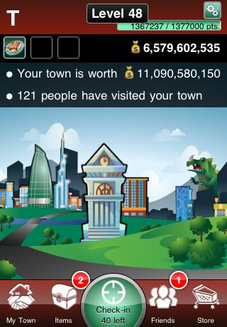 MyTown free app screenshot 1