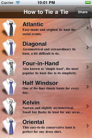 How to Tie a Tie free app screenshot 1