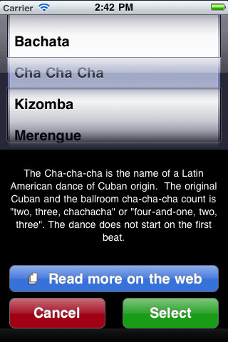 DanceTime Latin iPhone Screenshot 2