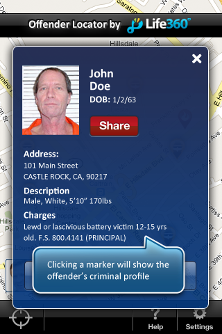 Sexual offender app iphone