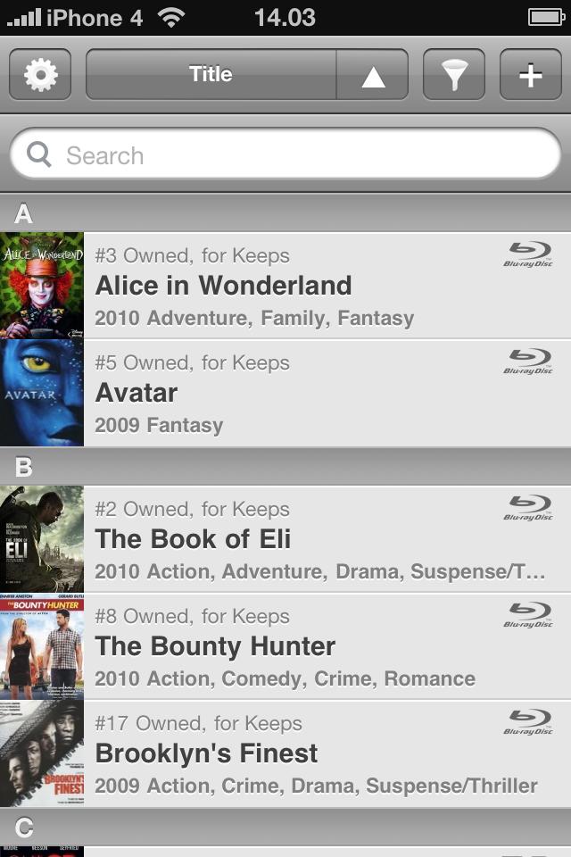 My Movies for iPhone Light free app screenshot 1