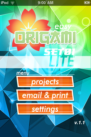 Easy Origami LITE free app screenshot 1