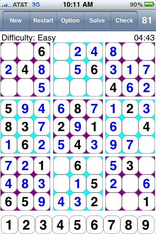 81 Squares 81乗 스도쿠  数独  Судоку  20000 puzzles