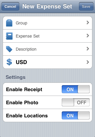 Expense Tool LE Screenshot