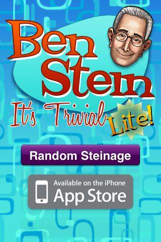 Ben Stein: It's Trivial Lite