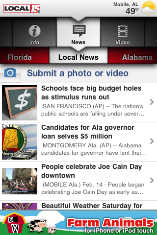 Local 15 Mobile Local News free app screenshot 1