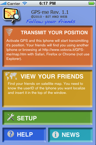 GPS-me Screenshot