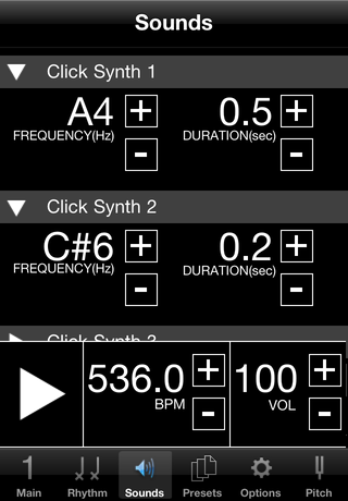 Visual Metronome Screenshot