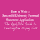 How to Write a Successful University Personal Statement Application-Developmedica