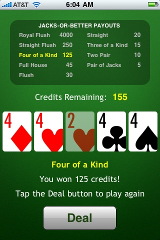JacksOrBetter Video Poker