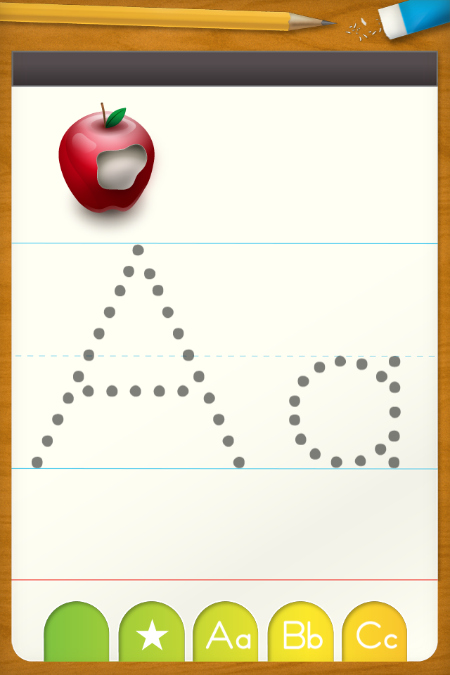 abc letter tracing free writing practice for preschool free app screenshot 1