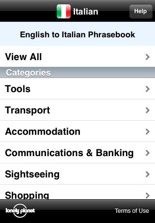 Lonely Planet Italian Phrasebook