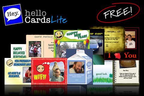 helloCards Lite (eCards Greeting Cards) - FREE! free app screenshot 1