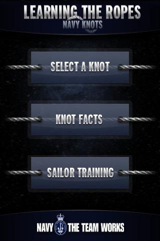 Learning The Ropes - Navy Knots free app screenshot 1