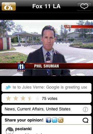 theChanner - TV goes social free app screenshot 1