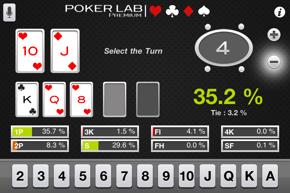 pokerLab. Premium Screenshot