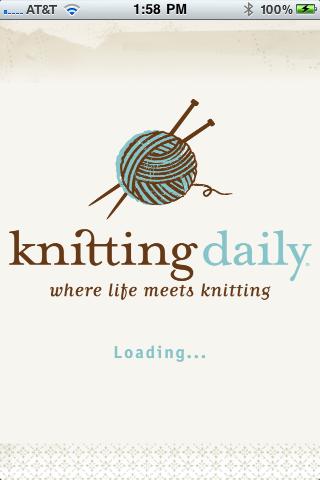 Knitting Daily free app screenshot 1