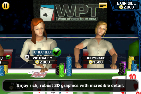 World Poker Tour Hold 'Em Showdown screenshot 2