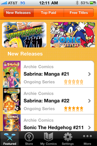 Archie Comics free app screenshot 1