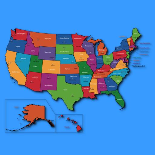 United States Map Quiz - Ilike2learn.com