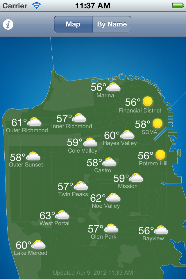 Image of SF Climates for iPhone