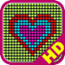 Glow Neon Heart Lights HD