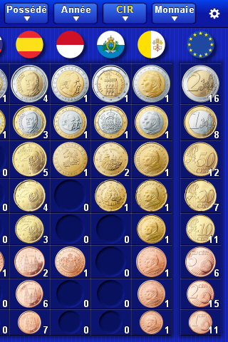 Euro Coin Collection Screenshot