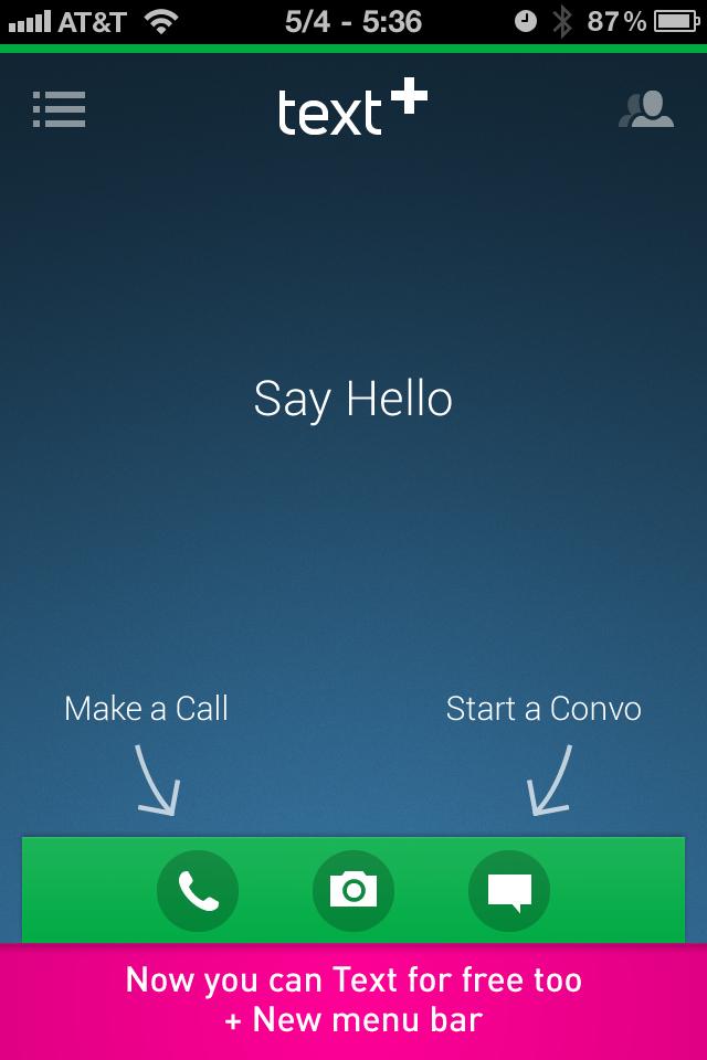 textPlus Free Calls screenshot 1