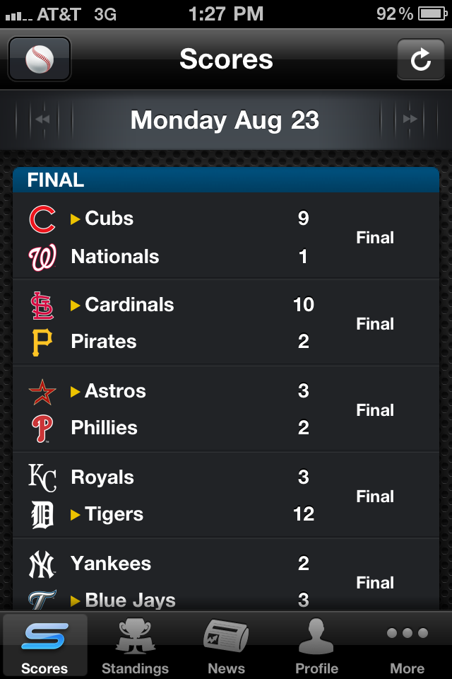 Yahoo! Sportacular Pro screenshot 2