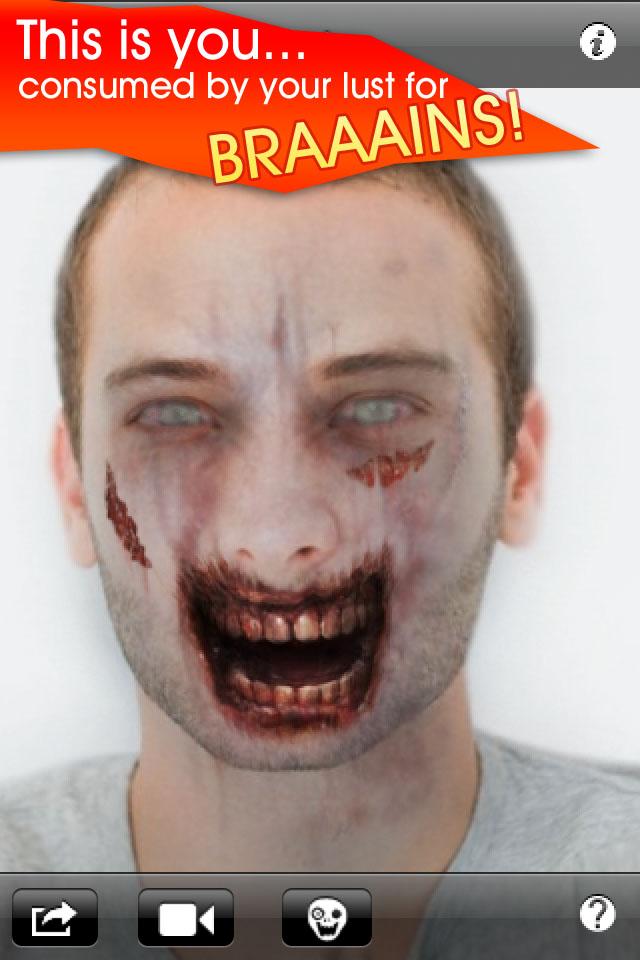 Как сделать из себя зомби в фото